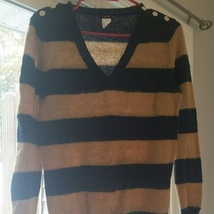 Gold and navy stripped sweater